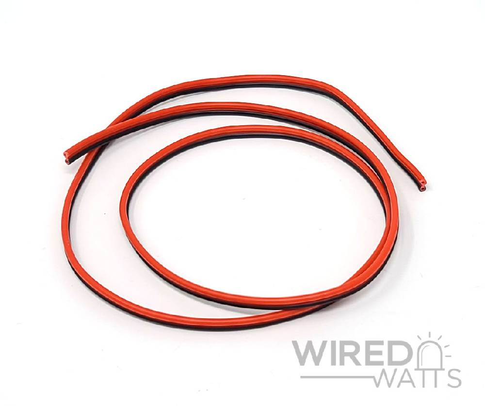 22 AWG Red and Black Computer Wire By the Foot