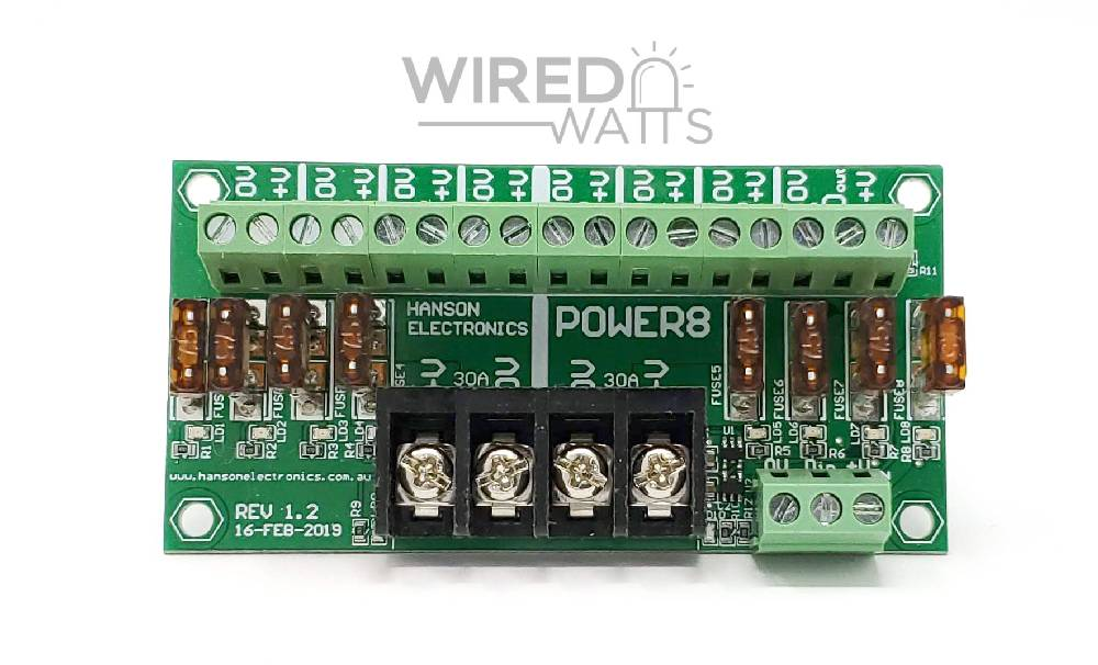 Power8 Power Distribution Board By Hanson Electronics - Image 1