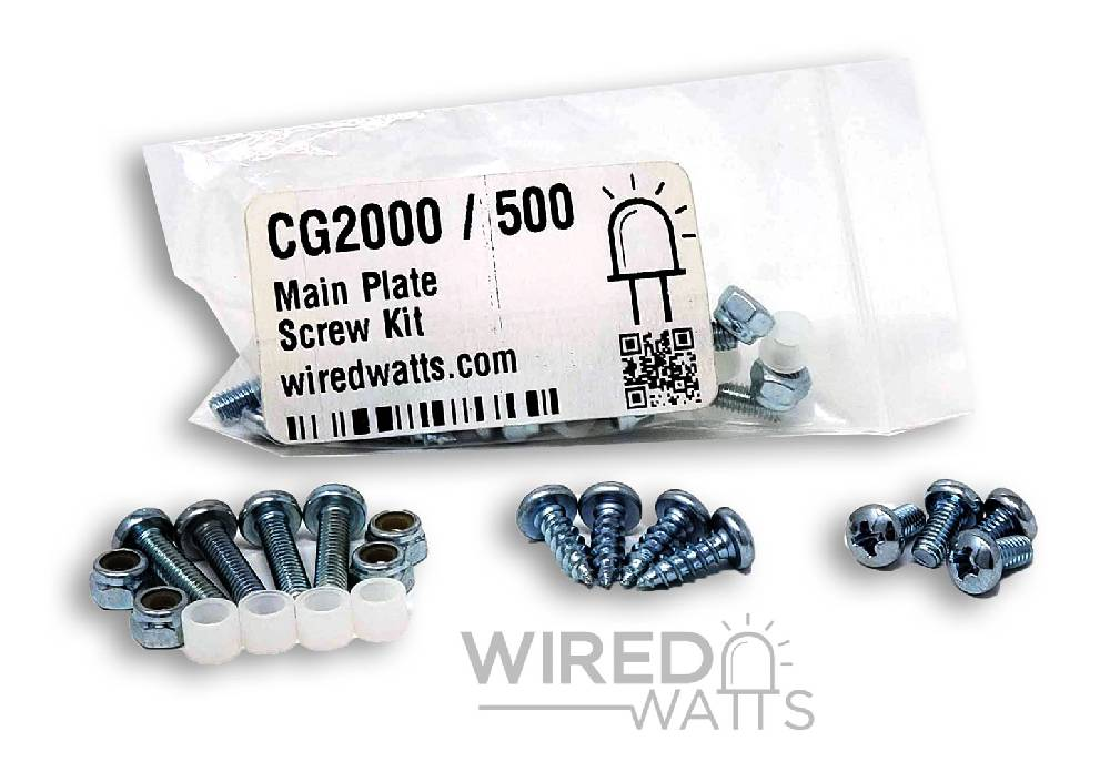 CableGuard CG2000 / CG500 Main Plate Screw Kit