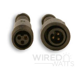 20 Foot 3 Core Extension Black Ray Wu Connector - Image 2
